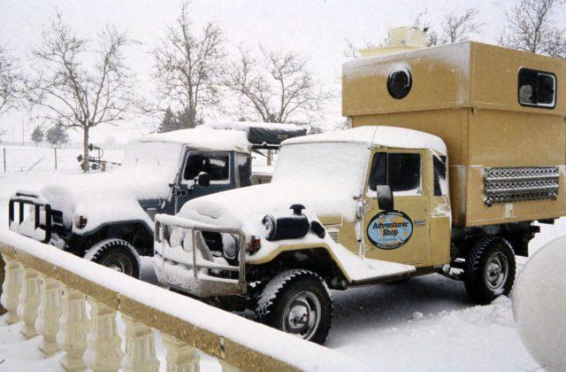 Marokko Pickup Schnee Wohnmobil Hubdach-koffer-Selbstausbau