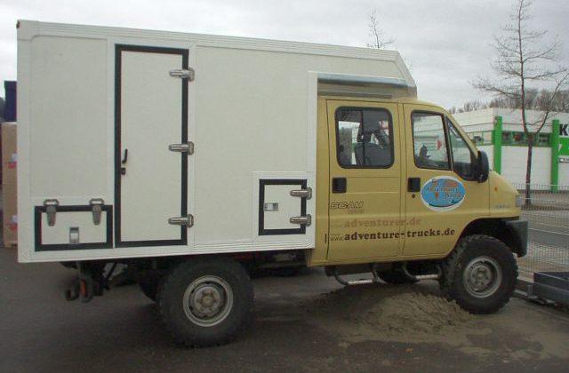 Wohnmobil SCAM Koffer aufbauen