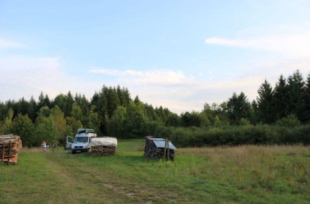 Frankreich freies Campen Wohnmobil Kastenwagen-Selbstausbau