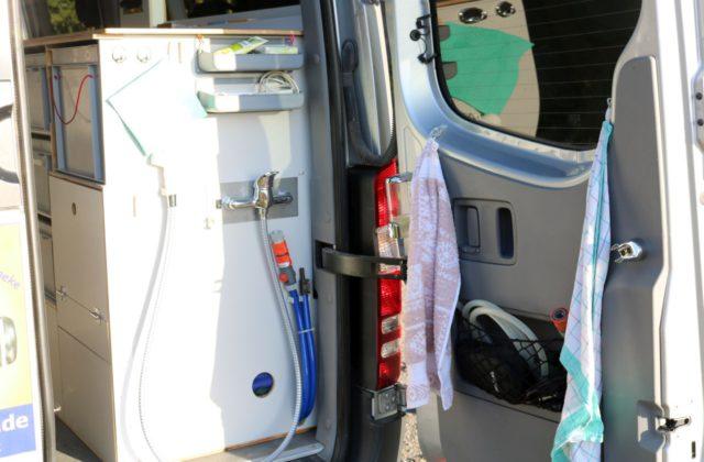 Badezimmer im Wohnmobil Kastenwagen-Selbstausbauen