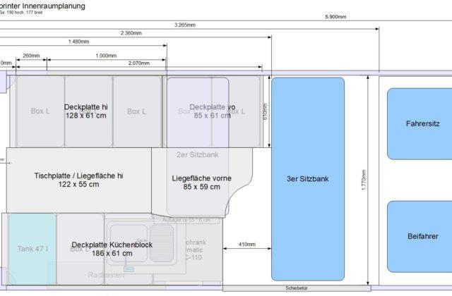 Planungs-Software zum Wohnmobil Kastenwagen-Selbstausbauen