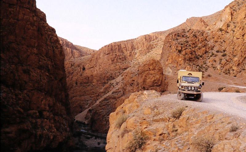 Mein erstes selbstausgebautes Wohnmobil Toyota Landcruiser in Marokko hoher Atlas